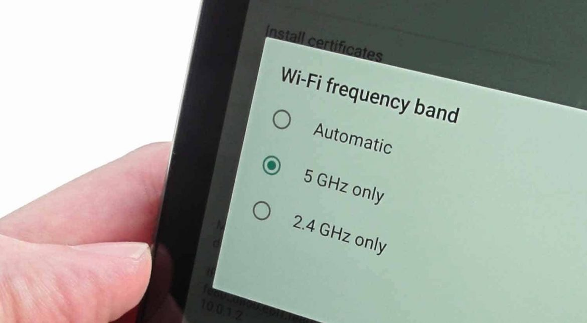 how to connect 5ghz wifi on android